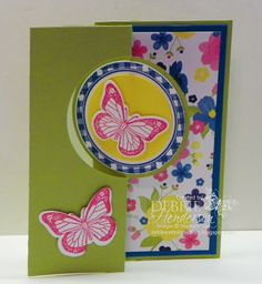 Stampin' Up! Backyard Basics and Kind & Cozy Stamp Sets using the Circle  Card Thinlits Die. Debbie Henderson, Debbie's Designs.
