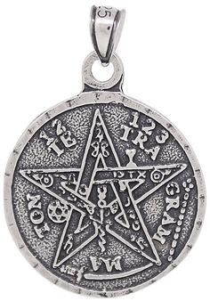 Sterling Silver Tetragrammaton Pentagram Pendant Medallion Oxidized * See this great product. (This is an affiliate link and I receive a commission for the sales)