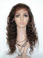 6A Bra-zilian Curly Hu-man Hair Full Lace Wig #4 Un-processed Vir-gin Deep Curly Lace Wigs Glueless Full Lace Wig Free Shipping