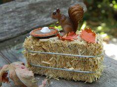Fairy Garden Miniatures Fall fairy Garden Accessories Miniature Squirrel and…