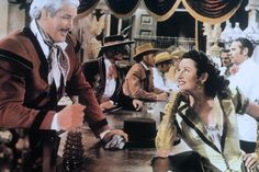 Even the men get glam costumes with a Spanish influence in this 1954 Western Jubilee Trail. Thumbs up for costumes and sets. Get Glam, Movie Costumes, Westerns, Trail, Spanish, Cinema, Movies, Men, Films