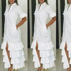 Simple Dresses, Cute Dresses, Casual Dresses, Indian Designer Outfits, Designer Dresses, Hijab Fashion, Fashion Dresses, White Outfits, Contemporary Fashion