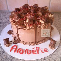 Plumes & Délices: Layer cake Kinder bueno