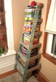 repurposed ladder shelf project, repurposing upcycling, shelving ideas, storage ideas