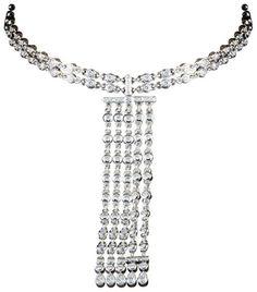 Graff Diamonds Platinum & Diamond Choker Pendant Necklace