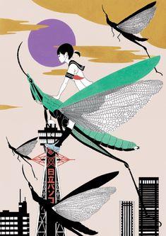 中村佑介 (なかむら ゆうすけ) 日本の新鋭イラストレーター アジカンCDジャケットからアニメ四畳半神話大系まで   BIRD YARD