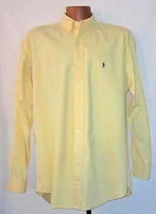 Ralph Lauren Polo Blaire Men's Long Sleeve Shirt Yellow Large 16 1/2 x 36
