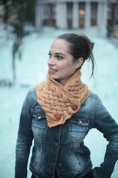 Hand Knit Scarf, Knitted Neck Warmer, Wool Scarf, Beige Cowl, Accessories, Knitting Women Fashion by Solandia. Nice gift. Winter. by Solandia on Etsy https://www.etsy.com/listing/112025468/hand-knit-scarf-knitted-neck-warmer-wool