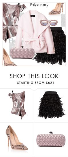"""""""Celebrate Our 10th Polyversary !"""" by dragananovcic ❤ liked on Polyvore featuring Roland Mouret, Alice + Olivia, Gianvito Rossi and Bottega Veneta"""