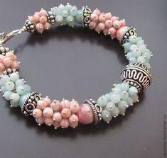 Gemstone Bracelets, Handmade Bracelets, Handmade Necklaces, Gemstone Jewelry, Beaded Jewelry, Jewelry Bracelets, Schmuck Design, Diy Earrings, Handmade Jewelry