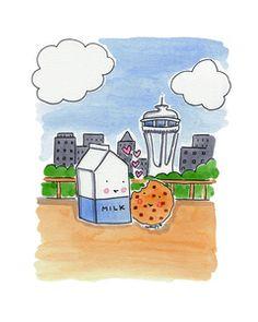 8x10 Milk and Cookies in Love in Seattle via @Cake Spy