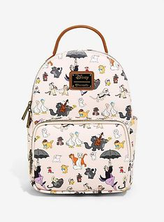 70c593721db Loungefly Disney Aristocats Allover Print Mini Backpack - BoxLunch  ExclusiveLoungefly Disney Aristocats Allover Print Mini Backpack