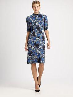 Floral Trends   Erdem - Elita Jersey Dress - Saks.com