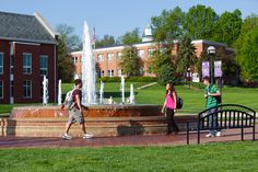 McKendree University's fountain is the perfect meeting place to visit with friends!