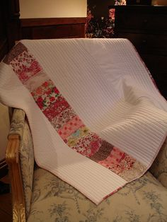 Liberty Prints baby Quilt - finished | Flickr - Photo Sharing! Love the simplicity