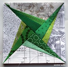 Swirling Star Paper piecing Monday