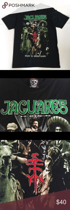 Jaguares Band Concert T-Shirt Rock en Español! Rare, Collectible, Jaguares Band Concert t-shirt. Black. Embroidered Front. Excellent Condition. Men's size XL. Rock & Death Shirts Tees - Short Sleeve