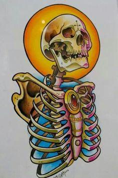 Skull #tattoo #art