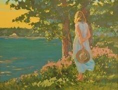Sheena Lott, oil painting, Artists Daughter, BC, CANADA ( #Art #Painting)  http://www.sheenalott.com/