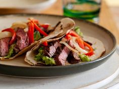 Recipe of the Day: Tyler's Steak Fajitas         Get a gorgeous char on your thin-cut skirt steak with a little help from your grill pan. Toss with your favorite fixings in toasted tortillas for the ultimate south-of-the-border spread.
