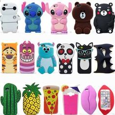 3D Cartoon Silicone Phone Case Covers Back For Iphone 6 6S 7 Plus HTC LG G5 SONY | Cell Phones & Accessories, Cell Phone Accessories, Cases, Covers & Skins | eBay!