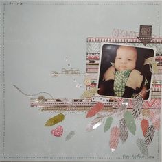 Kim created this adorable layout of her grandson using the new Kaisercraft bow & arrow range. She fussy cut the feathers from the 6 Bow Arrows, Baby Scrapbook, Scrapbooking Ideas, Feathers, Layouts, Projects To Try, Card Making, Paper Crafts, Bows