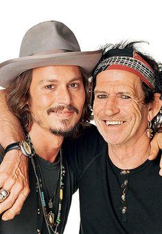 Johnny Depp & Keith Richards