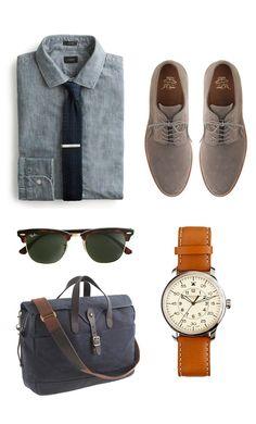 Men's #brownbearwear #businesscasual #creativeindustry Gentleman's work essentials