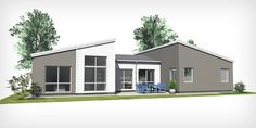 Villa Modern A10, 1-planshus på 142 m² — C4 Hus