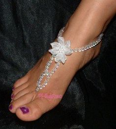 Bubbles and flowers barefoot sandals