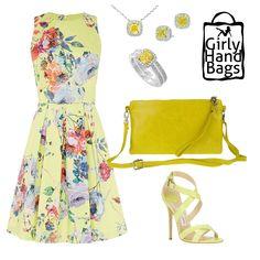 Genuine Leather Yellow Shoulder Bag In Italian Style www.girlyhandbags.co.uk