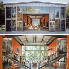 Container House - Shipping Container Projects Vacation Housing -Its amazing how you can build a small community of sorts out of shipping containers -The Saint - Who Else Wants Simple Step-By-Step Plans To Design And Build A Container Home From Scratch? Building A Container Home, Container Buildings, Container Cabin, Cargo Container, Glass Building, Building A House, Shipping Container Home Designs, Shipping Containers, Shipping Container Office