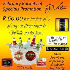 It's Wednesday and time to relax. Je'Vista Social Café Jeffrey's Bay of course! To enjoy the 5 in a bucket special with your friends. See you there tonight and don't forget the friends. Alcohol not served to persons under Daily Specials, Don't Forget, Wednesday, Alcohol, Bucket, Relax, How To Apply, Friends, Rubbing Alcohol