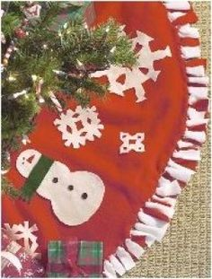 I already have a tree skirt but this is a good idea I might have to make my own!