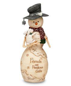 Look at this #zulilyfind! 'Friends are Precious Gifts' Snowman & Bunny Figurine #zulilyfinds