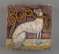 Tile (from the palace of Isabella d'Este) with the emblem of Gianfranco II de Gonzaga, c. 1500