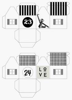 mixtum design: Letos s předstihem . Christmas Time, Advent, Floor Plans, Free, Design, Home Decor, Blog, Decoration Home, Room Decor