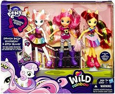 My Little Pony Equestria Girls Exclusive Wild Rainbow Doll 3-Pack The Cutie Mark Crusaders [Sweetie Belle, Scootaloo & Apple Bloom] My Little Pony http://www.amazon.com/dp/B00MPTS8SA/ref=cm_sw_r_pi_dp_1wmdub0DY5120