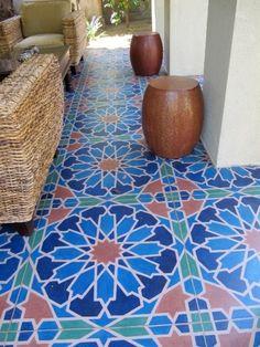 Moroccan Zellige inspired tiles.