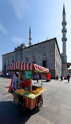 In front of The New Mosque, Istanbul, Turkey