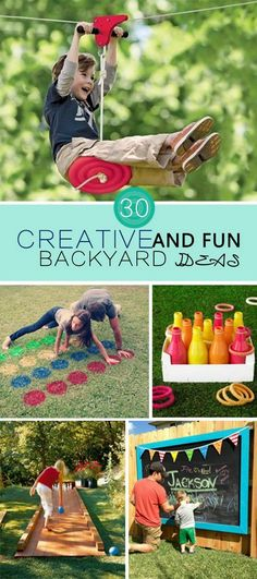 Creative and Fun Backyard Ideas!                                                                                                                                                                                 More