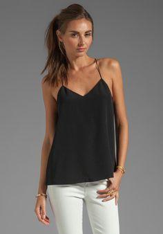 TIBI Silk Cami in Black at Revolve Clothing - Free Shipping!