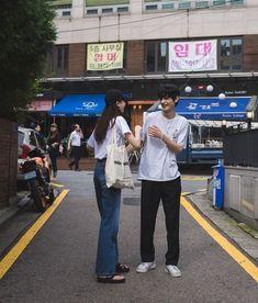 Sora and Park Ulzzang Couple, Ulzzang Girl, Cute Couples Goals, Couple Goals, Fotos Goals, Tennis Fashion, Korean Couple, Couple Aesthetic, Young Love
