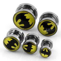 4mm-12mm 5 Size Batman Ear Plug Flesh Tunnel Stainless Steel Stretcher Expander   eBay