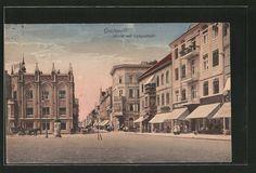 alte AK Greifswald, Markt mit Langestraße 1922