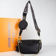 Louis Vuitton Multi Pochette Accessoires Genuine leather bagIt consists of three parts, two bags and one wallet. Large bag size: 24 x 13 cmSmall bag size: 18 x 9 cm Leather Design, Leather Bag, Louis Vuitton, Shoulder Bag, Wallet, Purses, Bags, Shopping, Clothing