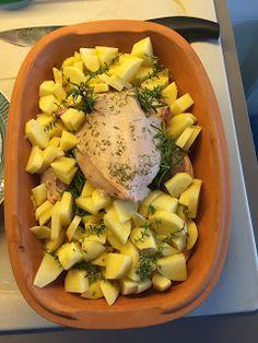 Pollo al limone con patate alla Romertopf
