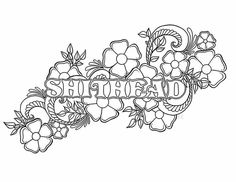 Shithead Adult Coloring PagesMandala PagesPrintable PagesColoring SheetsColoring BooksCute