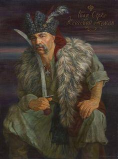 Artist creates portraits of Ukrainian HetmansEuromaidan Press Fantasy Portraits, Character Portraits, Character Art, Character Design, Ukrainian Tattoo, Ukrainian Art, Ukrainian Dress, Tattoos, Vikings