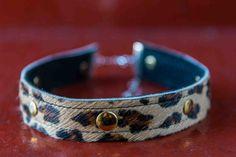 """Leopard Attack"" Choker....available online now!  #noknoklondon #denim #leopardprint #choker #jewellery #womensfashion"